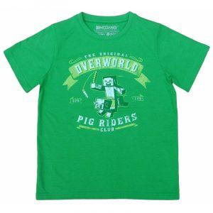 tricou minecraft verde