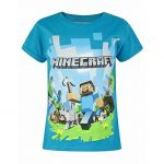 tricou minecraft blue