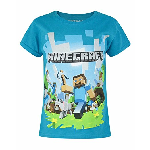tricou minecraft blue
