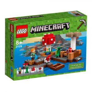 lego minecraft mushroom island