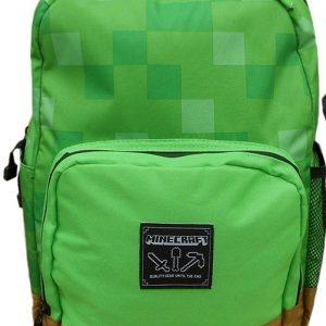 ghiozdan minecraft verde clasic